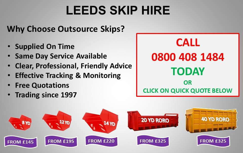 Skip Hire Leeds Landing Page W